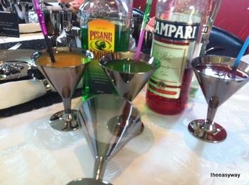 Martiniglas i silver. 6 st.