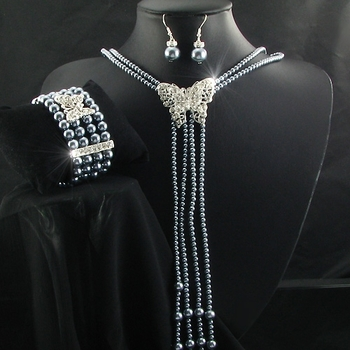 Pearl set. Butterfly