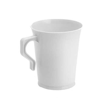 Coffee Mugs. White. 10 pieces.