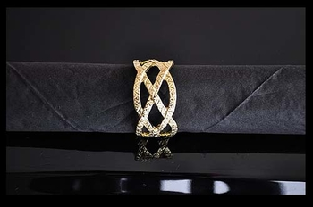Napkin Rings. Gold. 4 pieces.