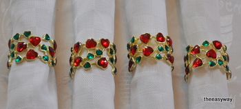 Napkin Rings. My heart. 4 pieces