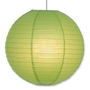 Paper Lantern. Green. 30 cm.