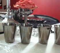 Shot glass in silver. 12 pieces