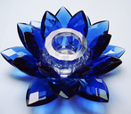 Lotus Candle Holder. Blue