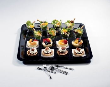 Square Mini  Black plate. 10 pieces
