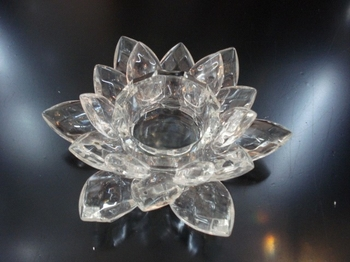 Lotus Ljusstake  Klar Kristall