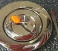 Rund assiet tallrik i silver. 6 st.