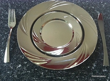 Round Side plate in silver. 6 pieces.