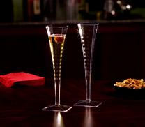 Fyrkantiga Champagneglas. 6 st.