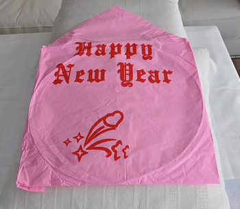 Happy New Year - Pink. 6 pieces