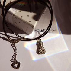 AS Godess Necklace Antique Silver Finish handmade Pendant Halskette Kragen Halsband Yoga Meditation Necklace - Handmade Jewelry by Ziddharta