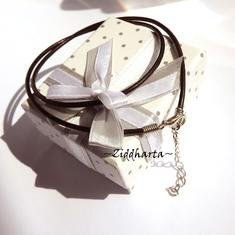 1-3-5st Svart Smyckesrem Satin Silk: Inklusive lås, förlängningskedja