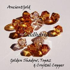 Swarovski Crystals 15st - AncientGold