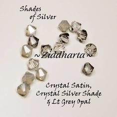 Swarovski Crystals 15st - Shades of Silver