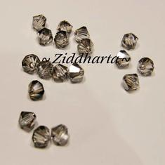 Swarovski 4mm Bicone - Crystal Satin - 8st