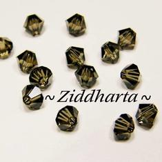 Swarovski 4mm Bicone - Smoked Quartz - 8st