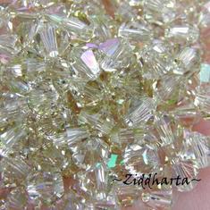 Swarovski 4mm Bicone - Luminous Green - 8st