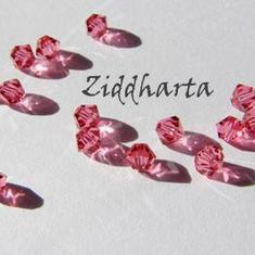 Swarovski 4mm Bicone -  Indian Pink - 8st