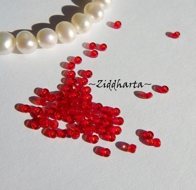 10gram RED SIAM Transp #141 Miyuki 2mm Seed Beads 11/0