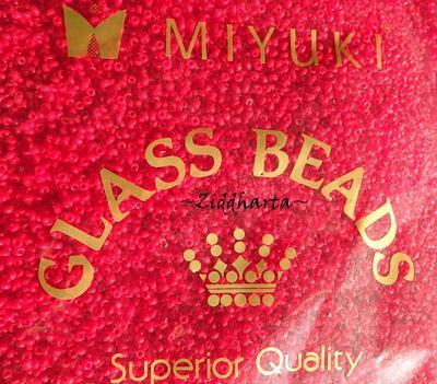 10gram RED SIAM Opaka #408 Miyuki 2mm Seed Beads 11/0