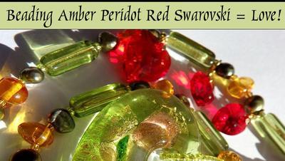 #DIY Videos #Smyckestillverkning #diyBeading Pärlor & glaspärlor: 2 Bärnstens Halsband - Amber Necklaces Peridot & Swarovski - Helt olika karaktär trots samma pärlor!