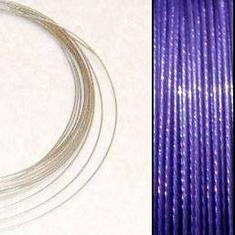 2,2m Wire 0,38mm: Tanzanite + 20 SP klämpärlor