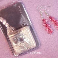 Smyckeskit: Spiral-örhängen- Material + mönster: SAPPHIRE