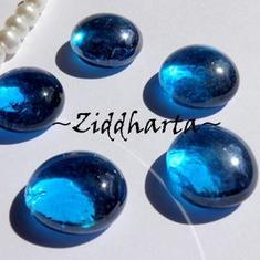 1-3-5st Glas-cabbar: CapriBlue BLÅ AB - Cabochoner av glas för dekor, pyssel och pärlsömnad