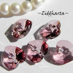 Swarovski 10mm HJÄRTA - Antique Pink