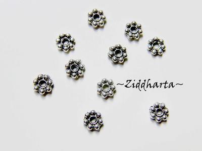 10st AS Mellandelar 5mm - 'Daisy'