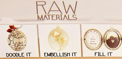 RAW: 1 AS Runt hänge - RUND BERLOCK öppningsbar för foto & dekorationer