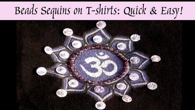 #DIY  Videos #Recycle Smyckestillverkning: Pärl-broderi med paljetter på tyg - Beading Sequins on T-shirts