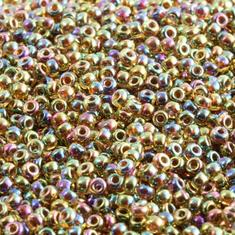 10gram TOPAZ Fancy Luster #357 Miyuki 2mm Seed Beads 11/0