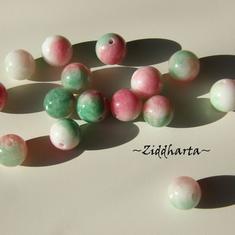1st CandyJade Melerade Vit /Rosa /Grön 8mm pärla