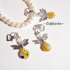 1-2-3st Ängla-hänge: CITRUS Millefiori pärla - Ängel - Handmade Angels by Ziddharta