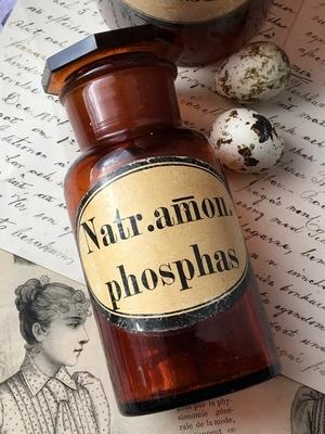 GAMMAL APOTEKSFLASKA - NATR.AMON.PHOSPHAS
