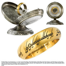 LOTR - One Ring Stainless Steel- Gold size 10