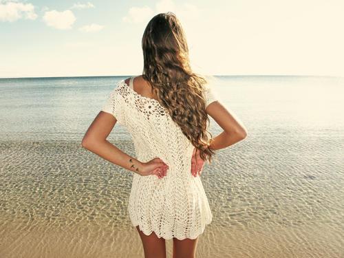 Handmade crochet over-size dress BEIGE