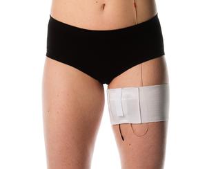 White thigh belt