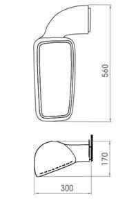 Spegelarm/ Huvudspegel 273 Vänster