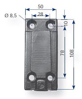 Fästplatta med kabel
