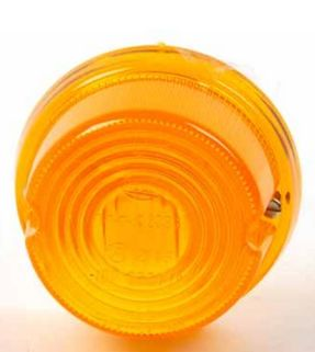 Glas för blinklykta till skolskylt