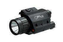 Eftersökslampa 250 lumen grön + röd laser
