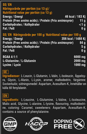 Swedish Supplement BCAA Engine 4:1:1 400 g - Köp Better Bodies köp denna för 1kr