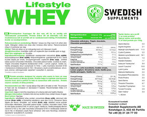 Swedish Supplement  Lifestyle Whey 1000g