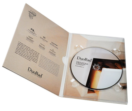 DVD med trykk i 4-sidig A5 Digipak