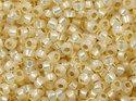 Miyuki seedbead 11/0, Dyed Cream Silverline Alabaster, 0577. 5 gram