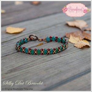 Silky Dot Bracelet, av Tiina Lilja. PDF