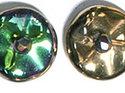 Ripple™ beads, California Green. 20-pack
