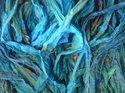 Sidenband i turkos färg, 2 meter